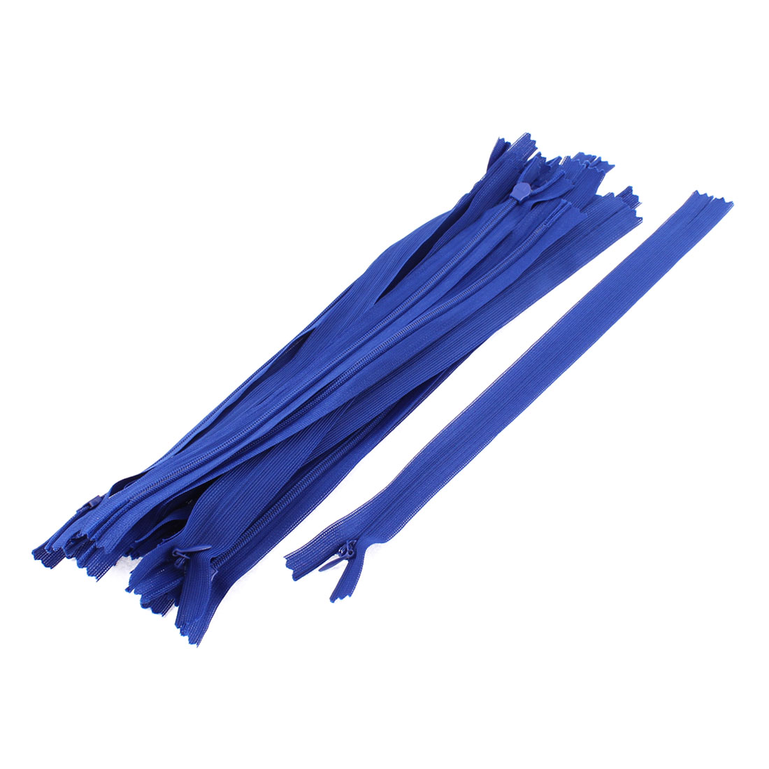Dress Pants Closed End Nylon Zippers Tailor Sewing Craft Tool Blue 25cm 20 Pcs