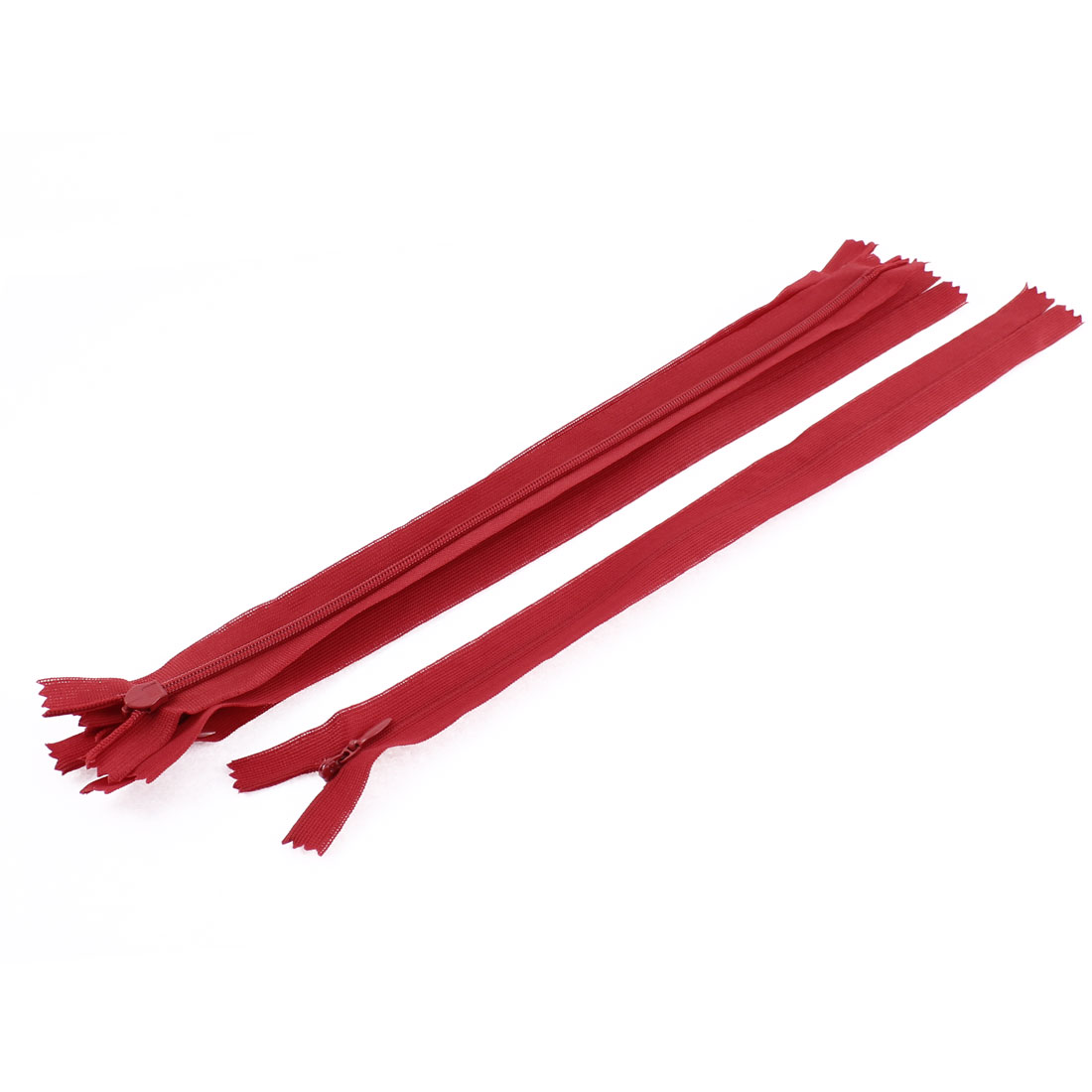 5 Pcs 12-inch Long Red Nylon Zippers Zips for Clothes