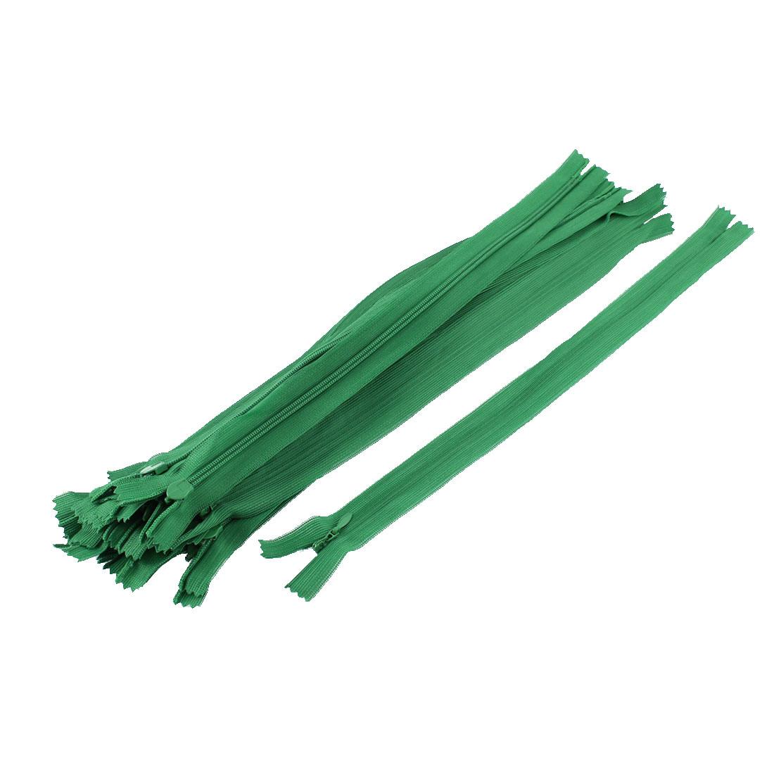 20 Pcs 12-inch Long Green Nylon Zippers Zips for Clothing
