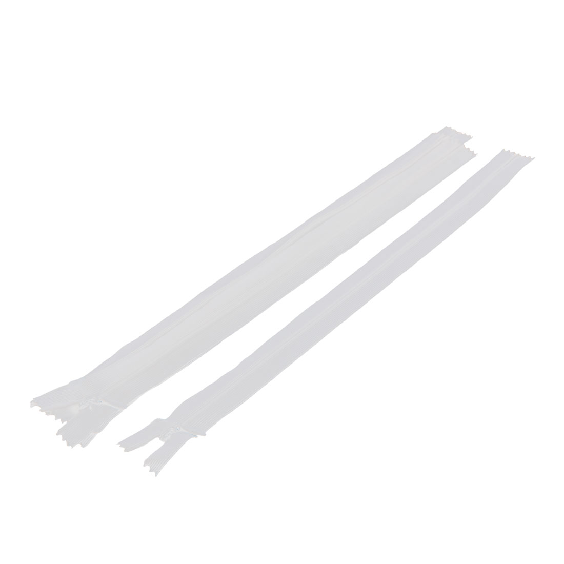 5 Pcs 12-inch Long White Nylon Zippers Zips for Clothes