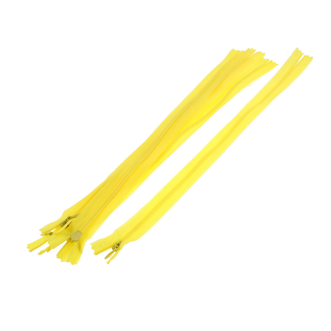 5 Pcs 12-inch Long Yellow Nylon Zippers Zips for Clothes