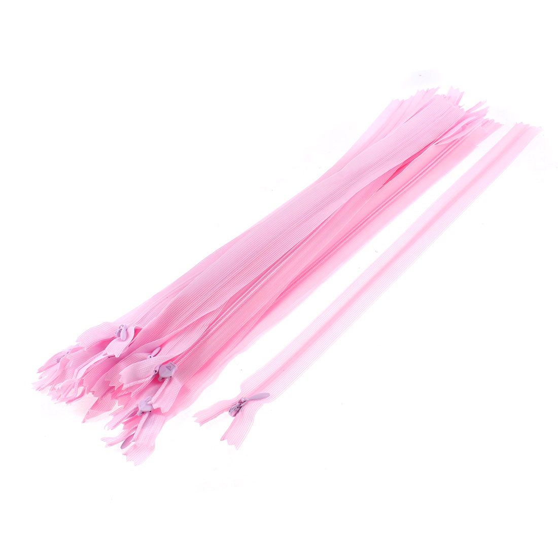 20 Pcs 12-inch Long Pink Nylon Zippers Zips for Clothing