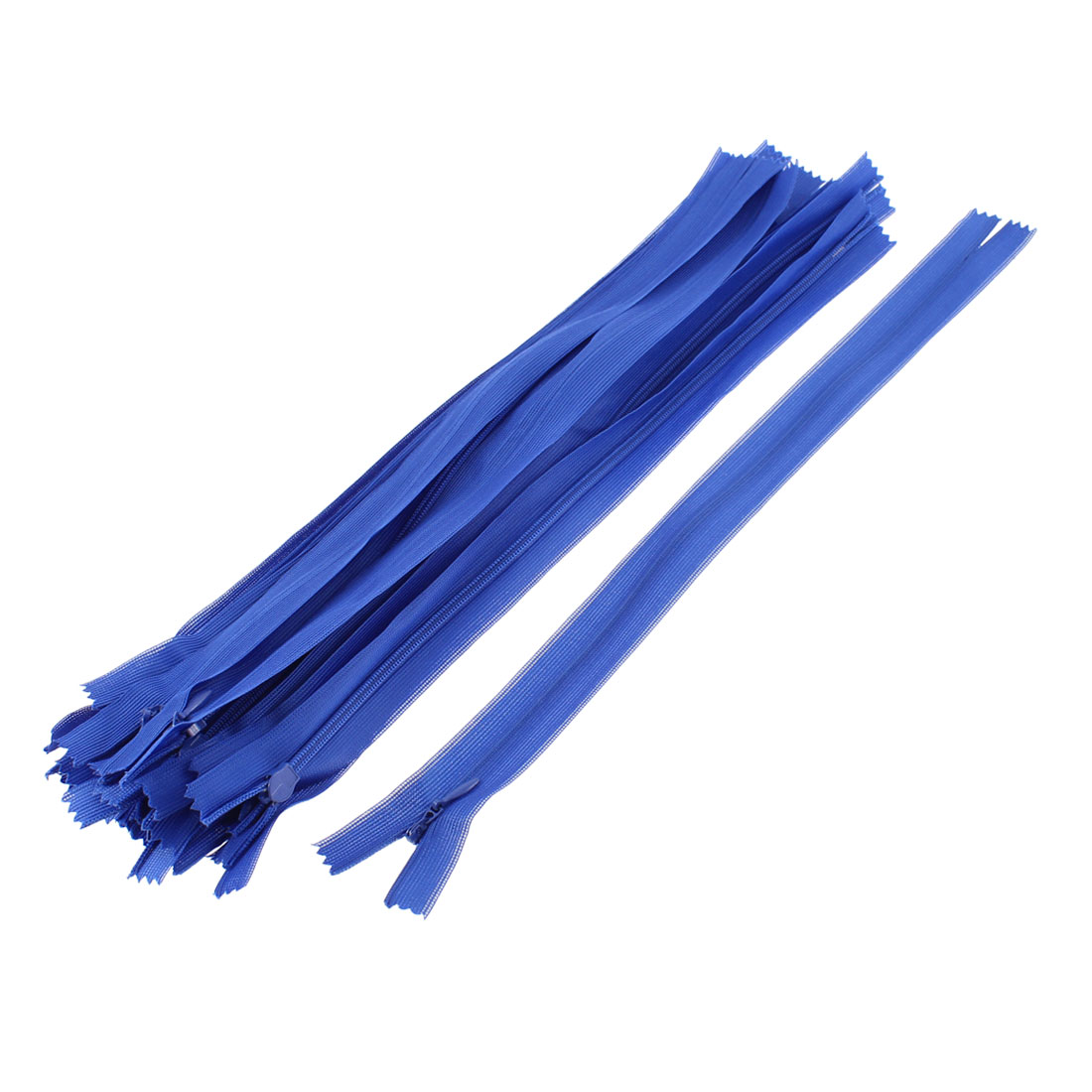 20 Pcs 12-inch Long Blue Nylon Zippers Zips for Clothing