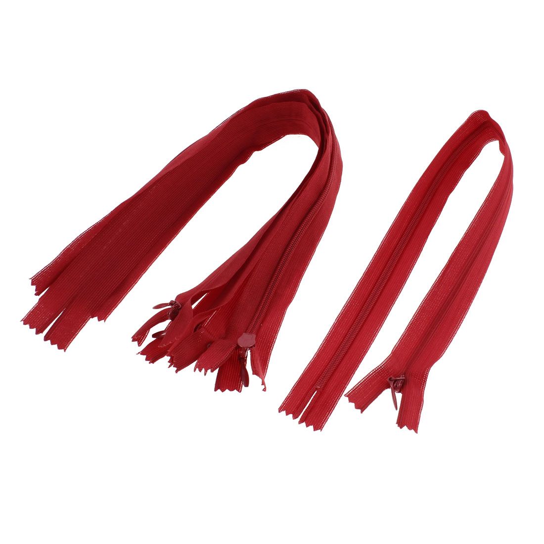 "Red Nylon Invisible Concealed Zipper 14"" Long 5 Pcs"