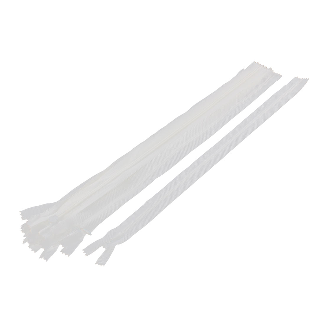 White Invisible Nylon Concealed Zip Zipper 14-inch 10 Pcs