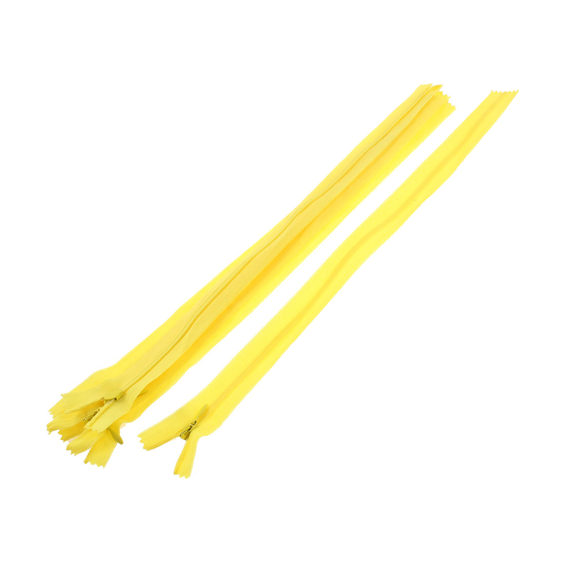 "Yellow Nylon Invisible Concealed Zipper 14"" Long 5 Pcs"
