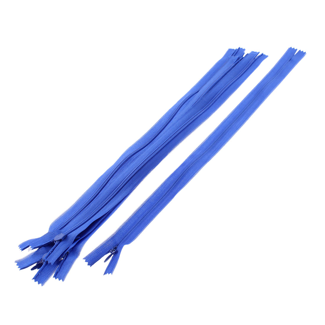 "Blue Nylon Invisible Concealed Zipper 14"" Long 5 Pcs"