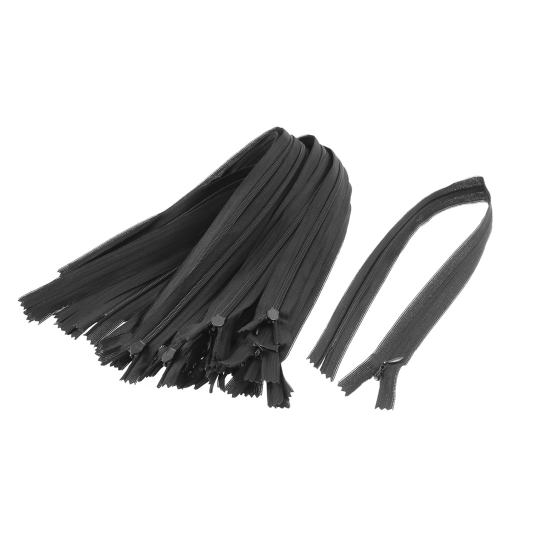 Dress Pants Closed End Nylon Zippers Tailor Sewing Craft Tool Black 40cm 20 Pcs