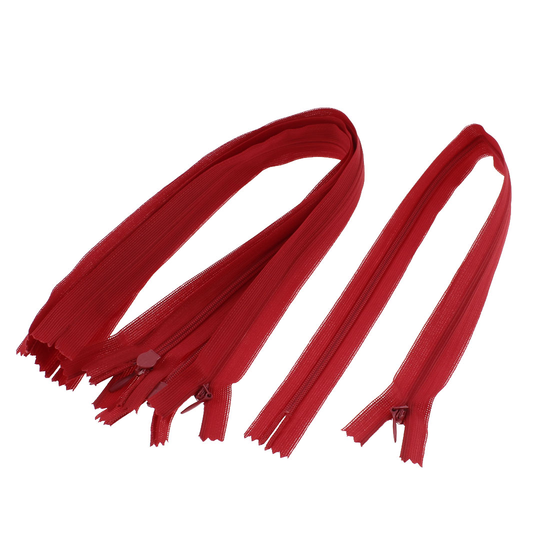 Dress Pants Closed End Nylon Zippers Tailor Sewing Craft Tool Red 40cm 5 Pcs