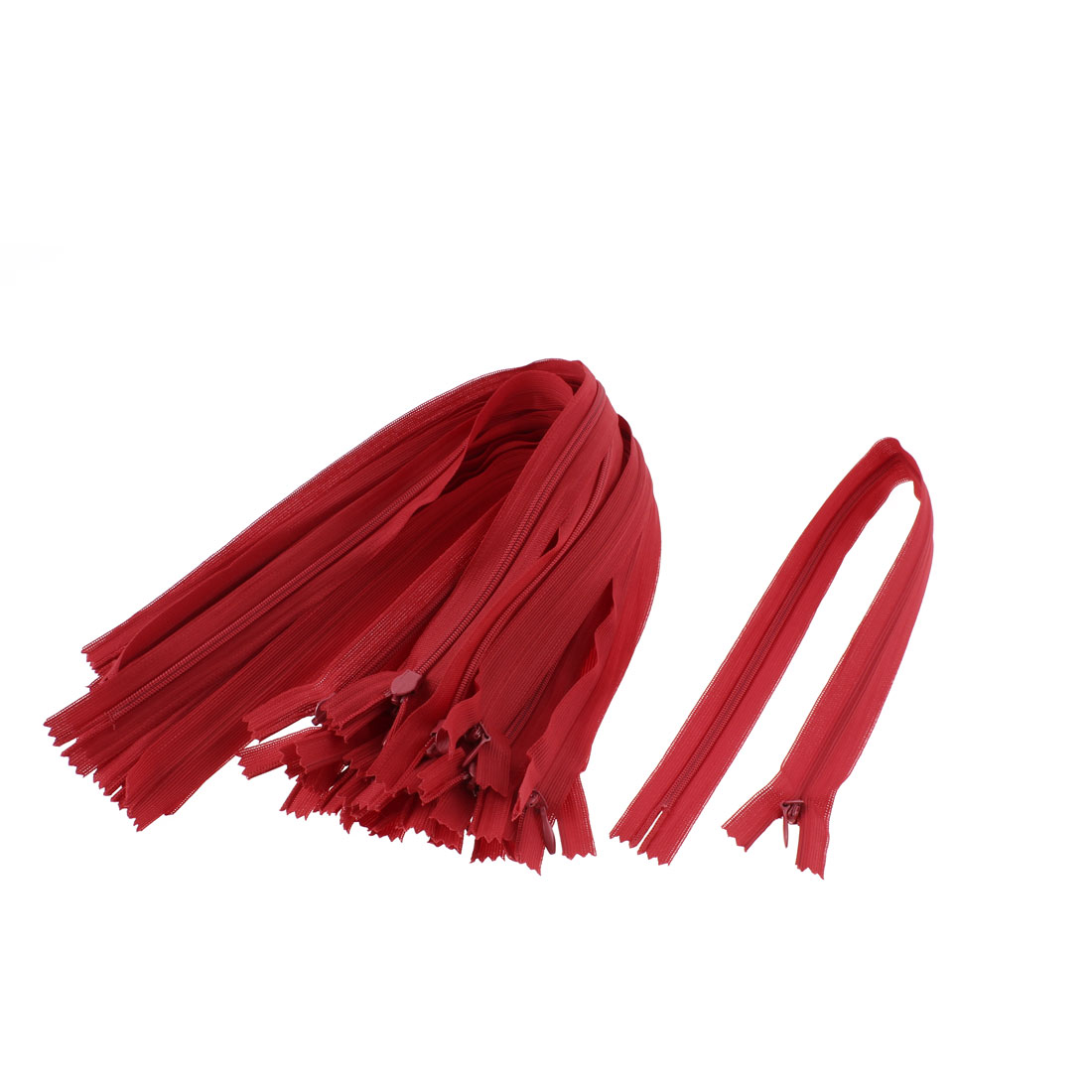 Dress Pants Closed End Nylon Zippers Tailor Sewing Craft Tool Red 40cm 20 Pcs