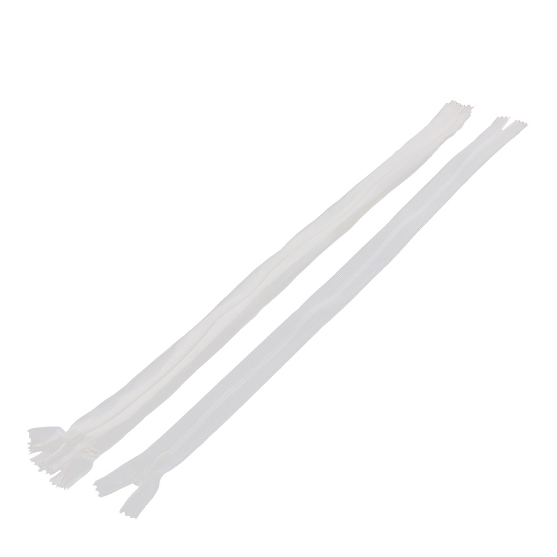 Dress Pants Closed End Nylon Zippers Tailor Sewing Craft Tool White 40cm 5 Pcs
