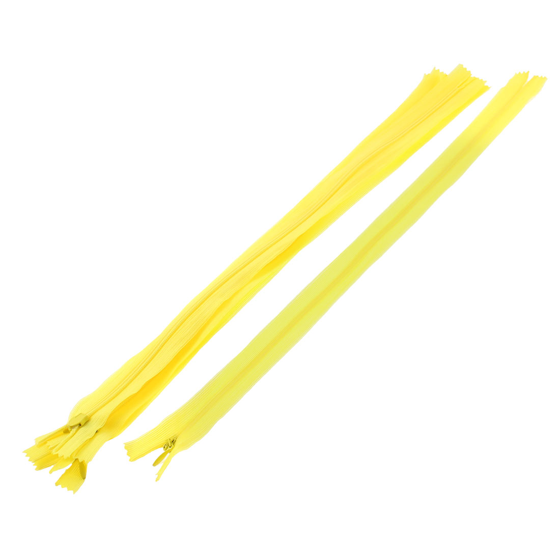 Dress Pants Closed End Nylon Zippers Tailor Sewing Craft Tool Yellow 40cm 5 Pcs