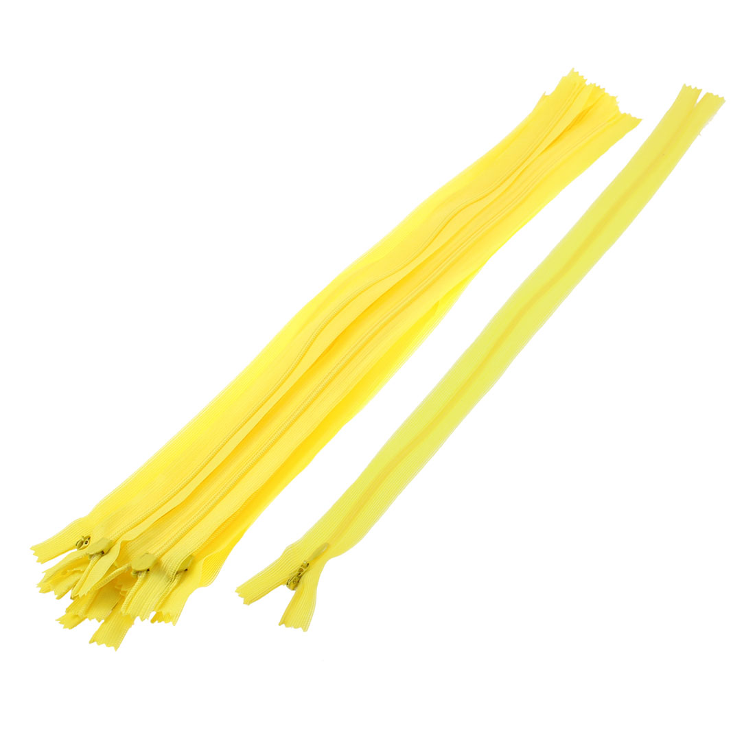 Dress Pants Closed End Nylon Zippers Tailor Sewing Craft Tool Yellow 40cm 10 Pcs