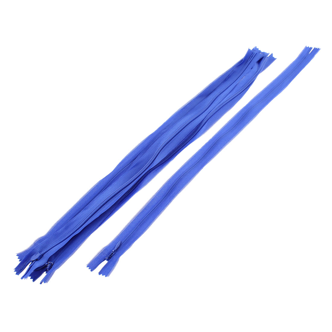 Dress Pants Closed End Nylon Zippers Tailor Sewing Craft Tool Blue 40cm 5 Pcs