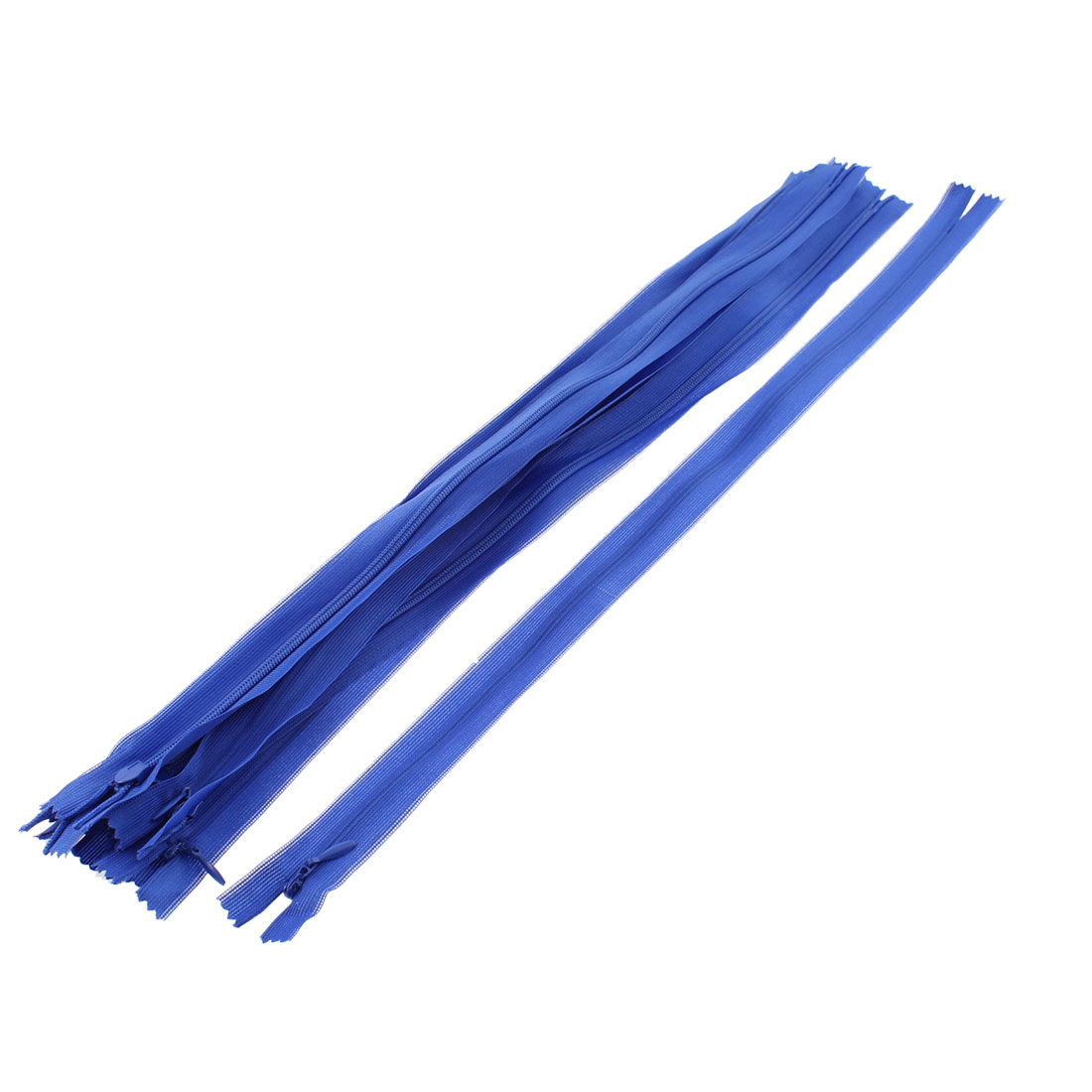 Dress Pants Closed End Nylon Zippers Tailor Sewing Craft Tool Blue 40cm 10 Pcs