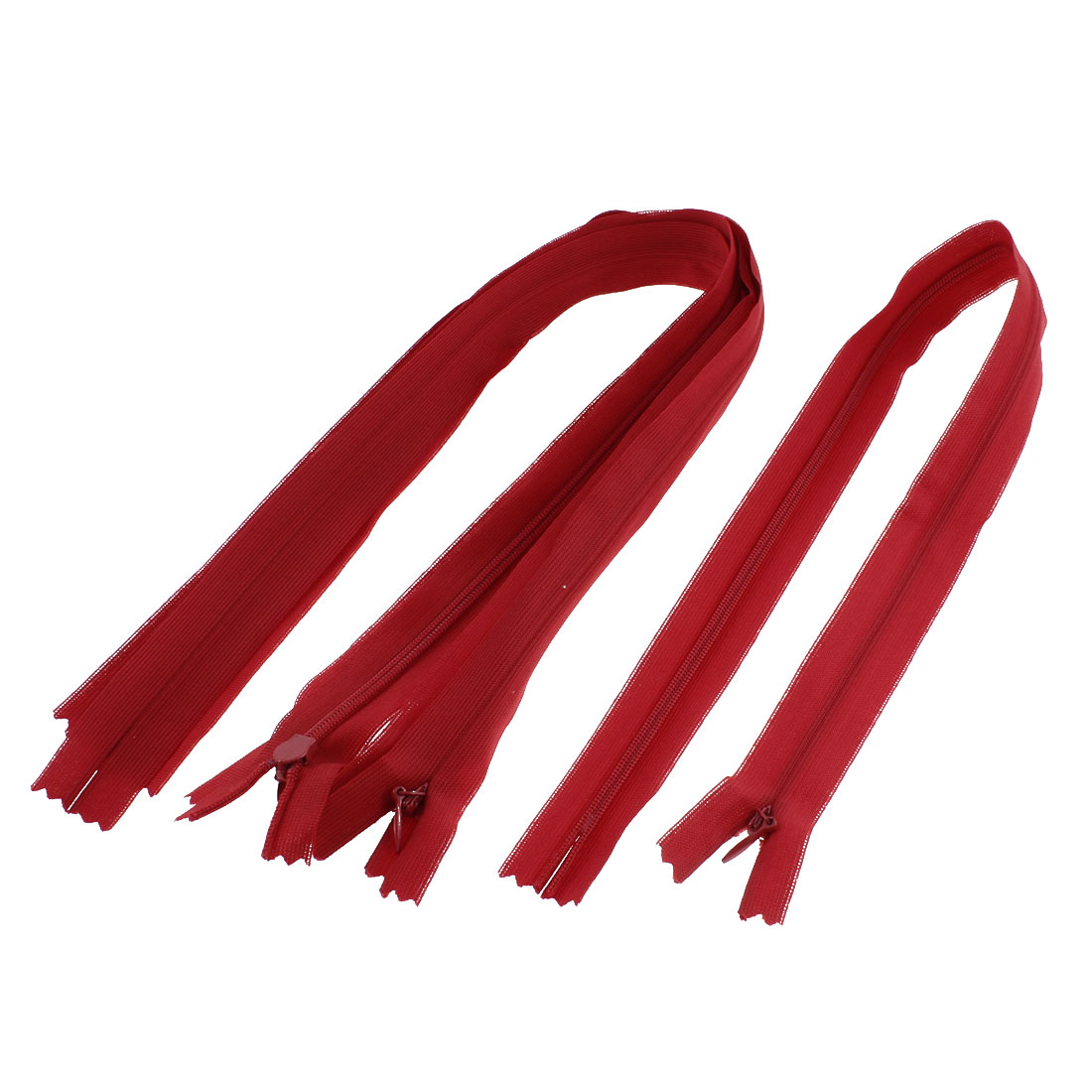 Dress Pants Closed End Nylon Zippers Tailor Sewing Craft Tool Red 50cm 5 Pcs