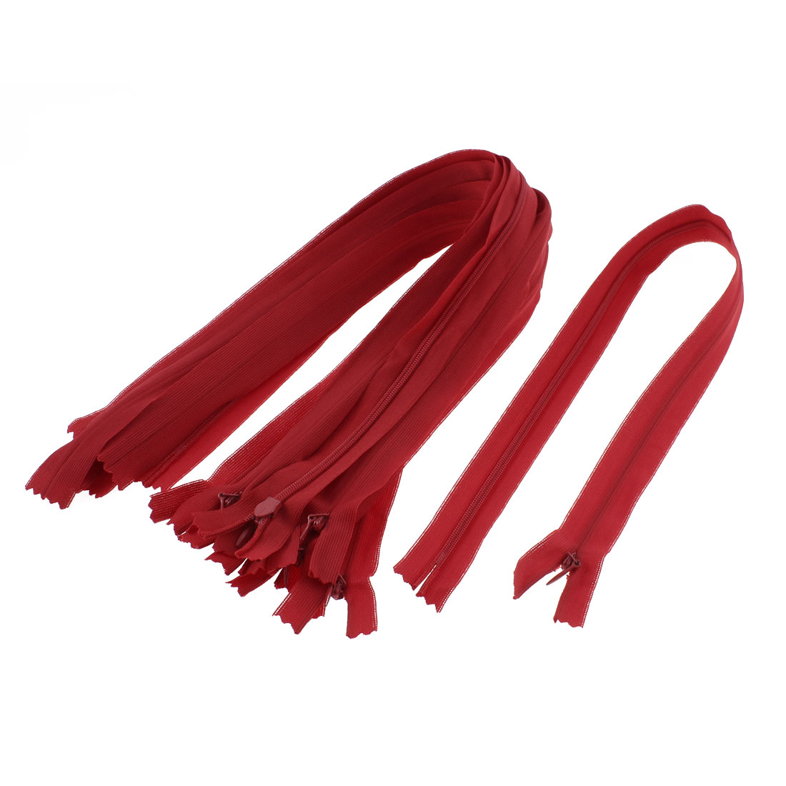 Dress Pants Closed End Nylon Zippers Tailor Sewing Craft Tool Red 50cm 10 Pcs
