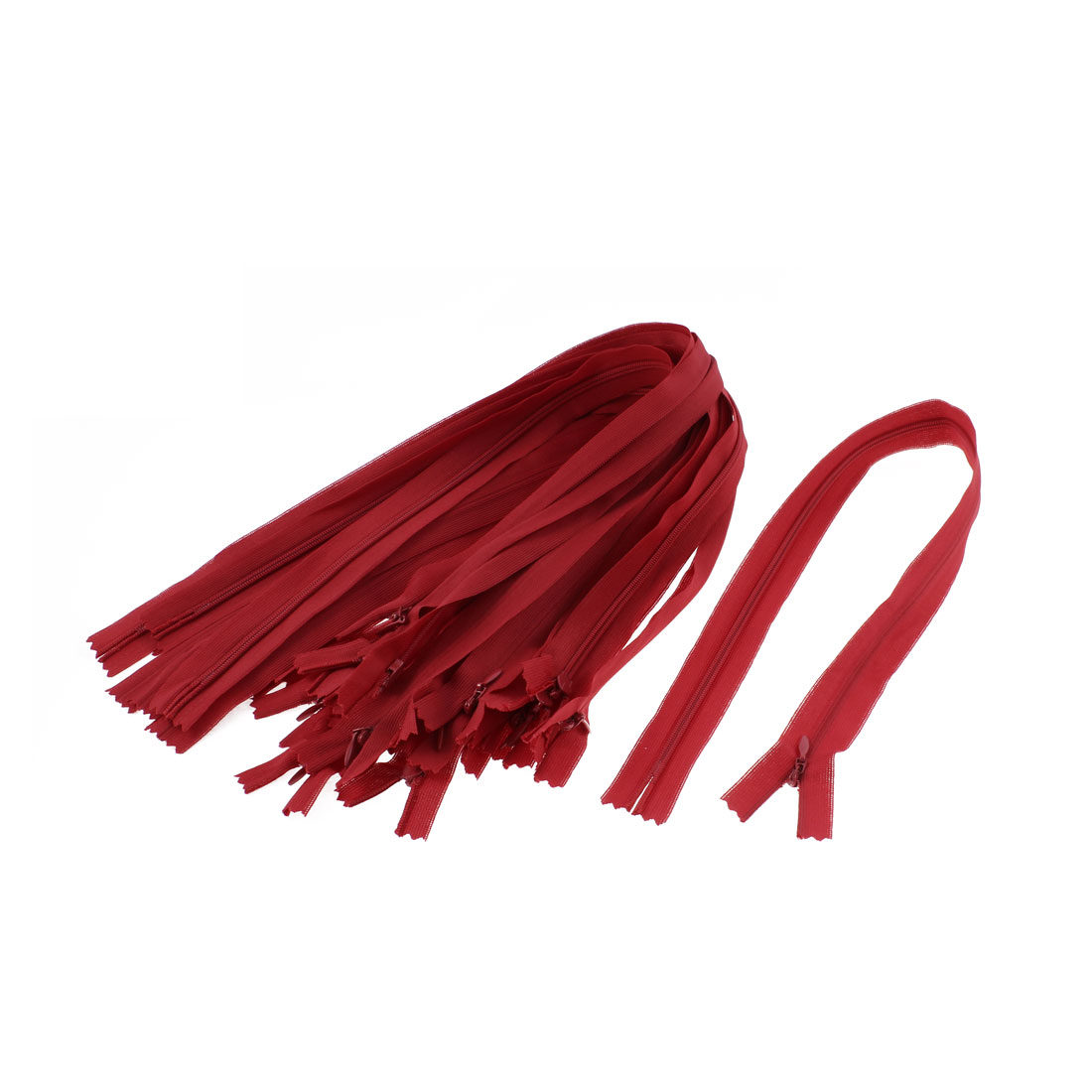 Dress Pants Closed End Nylon Zippers Tailor Sewing Craft Tool Red 50cm 20 Pcs