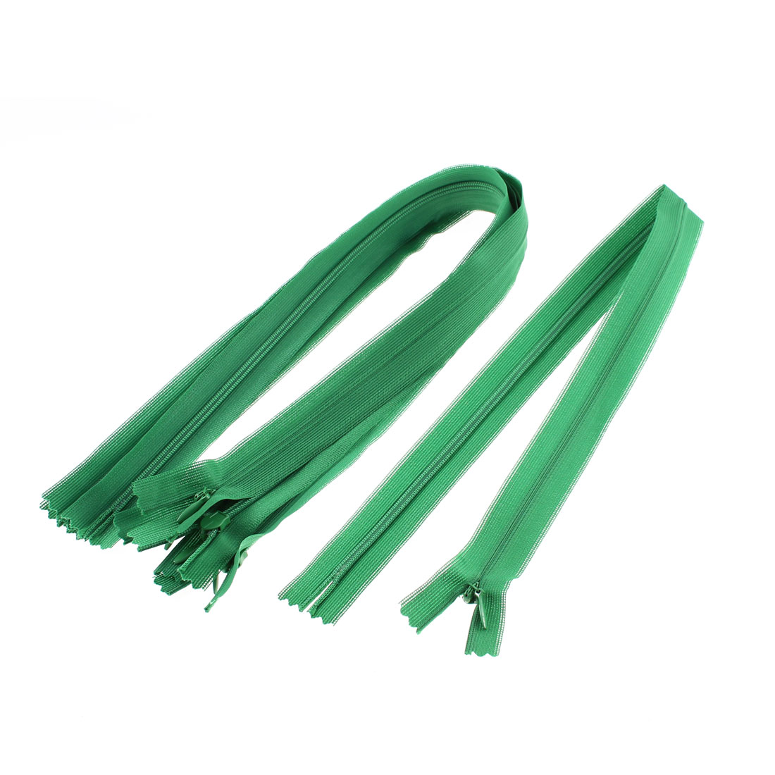 Dress Pants Closed End Nylon Zippers Tailor Sewing Craft Tool Green 50cm 5 Pcs