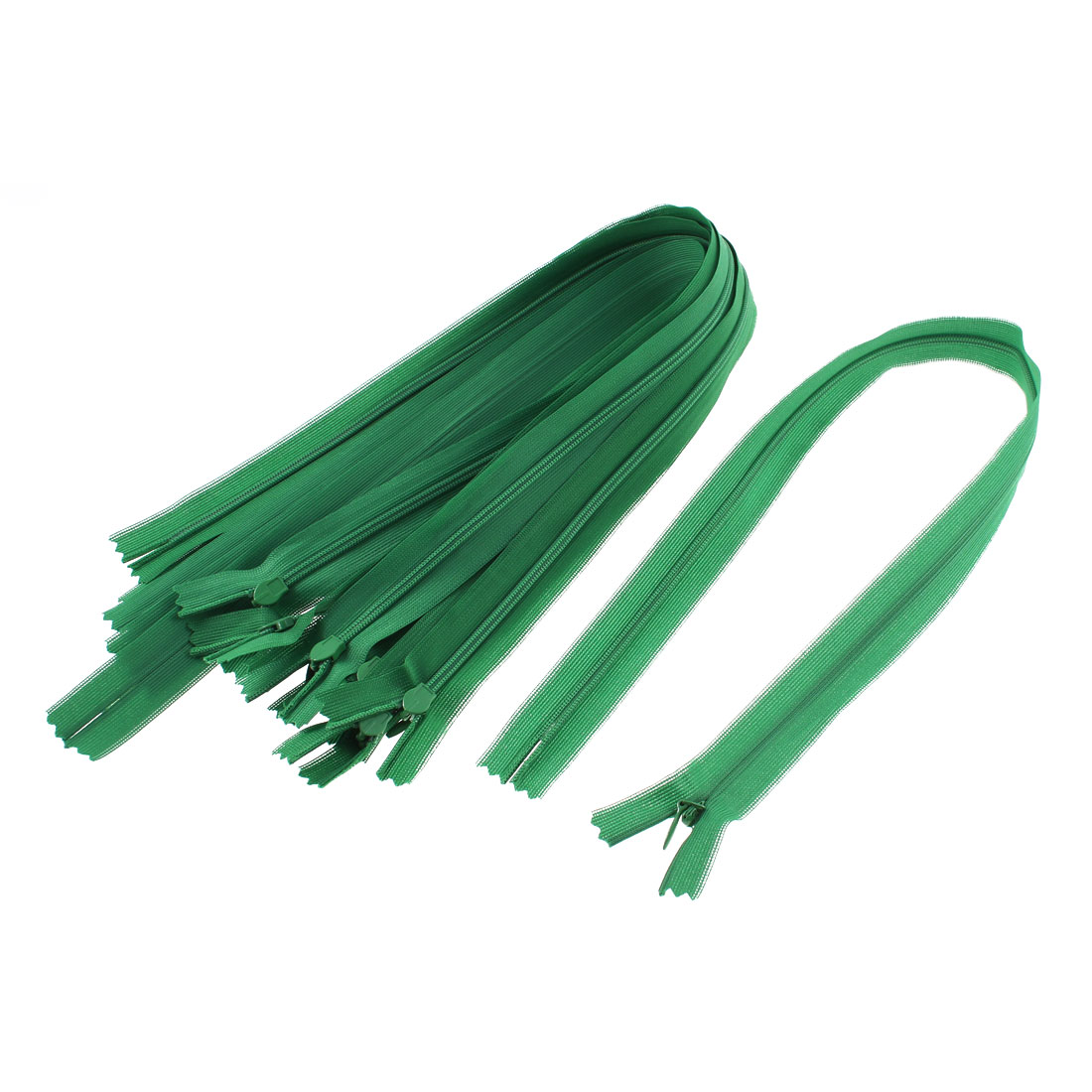 Dress Pants Closed End Nylon Zippers Tailor Sewing Craft Tool Green 50cm 10 Pcs