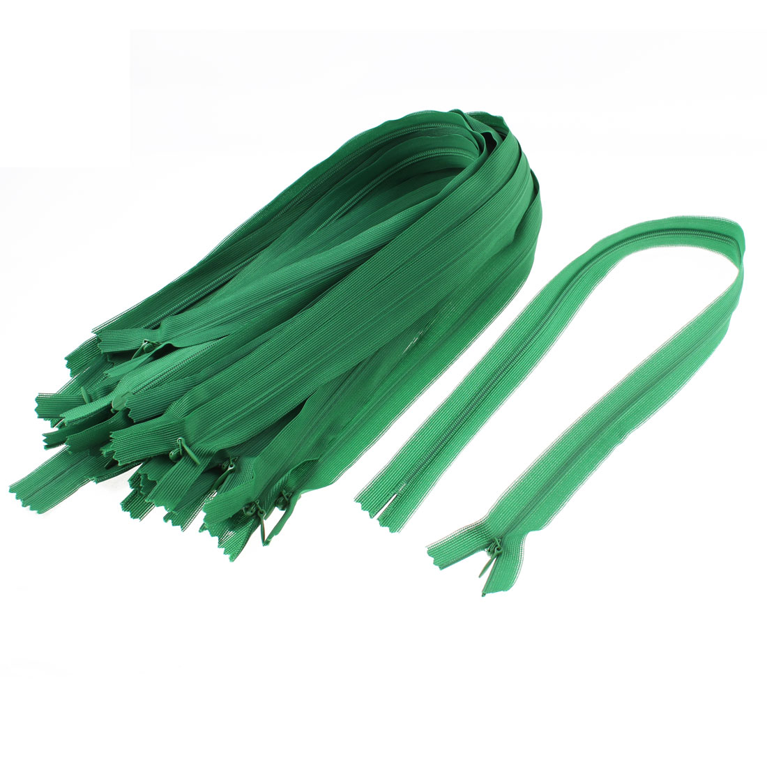 Dress Pants Closed End Nylon Zippers Tailor Sewing Craft Tool Green 50cm 20 Pcs