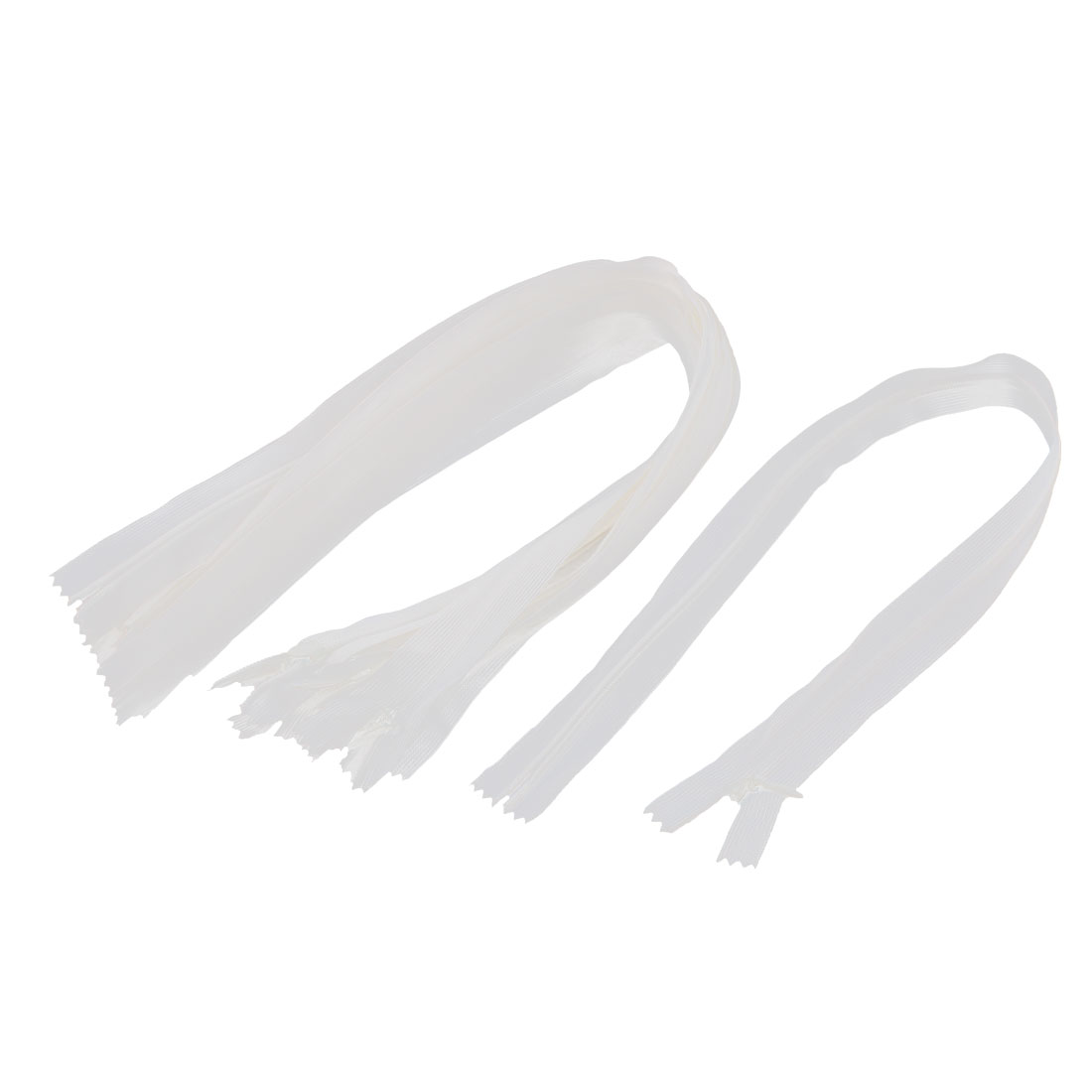 Dress Pants Closed End Nylon Zippers Tailor Sewing Craft Tool White 50cm 10 Pcs
