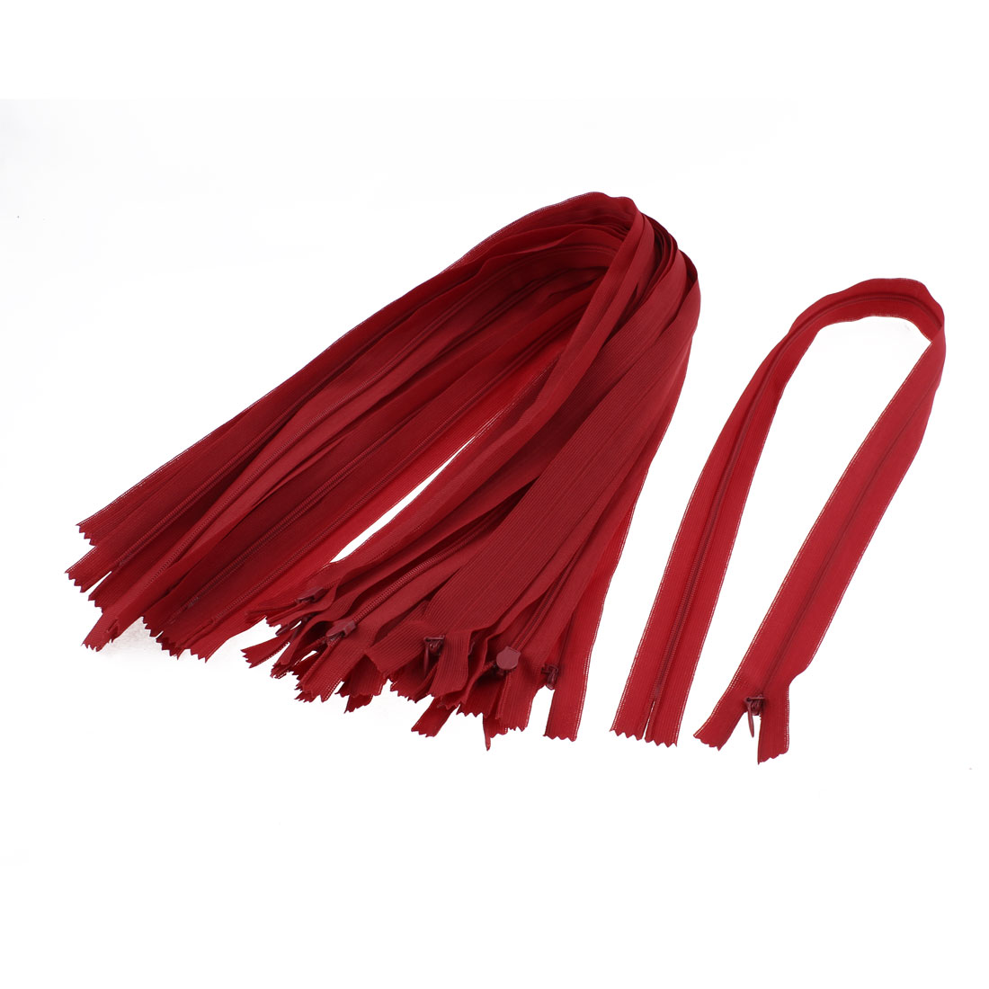 "Red Nylon Zippers Tailor Sewing Tools 24"" Long 20 Pcs"