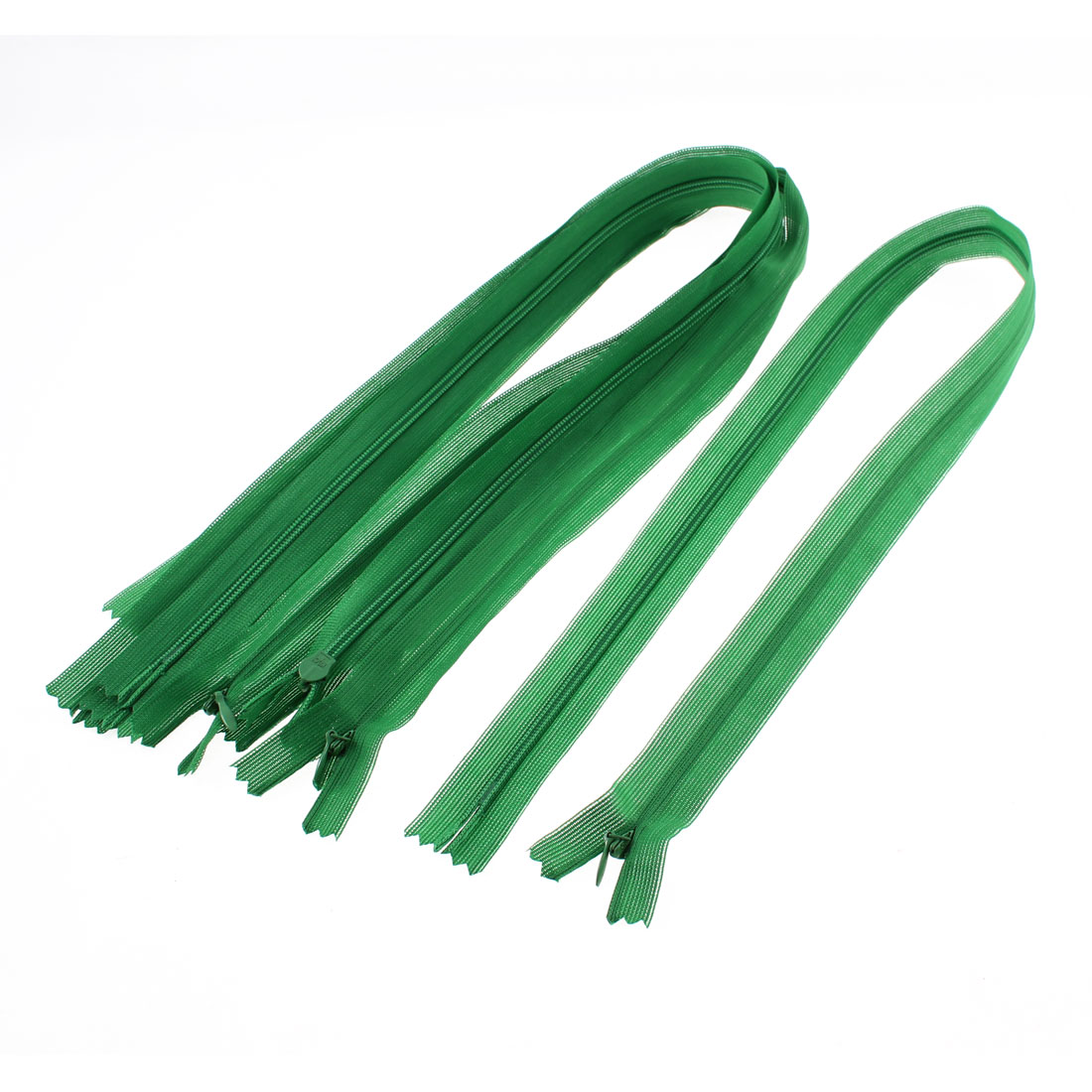 5 Pcs Green Nylon Dress Zippers Tailor Sewing Tools 24-inch