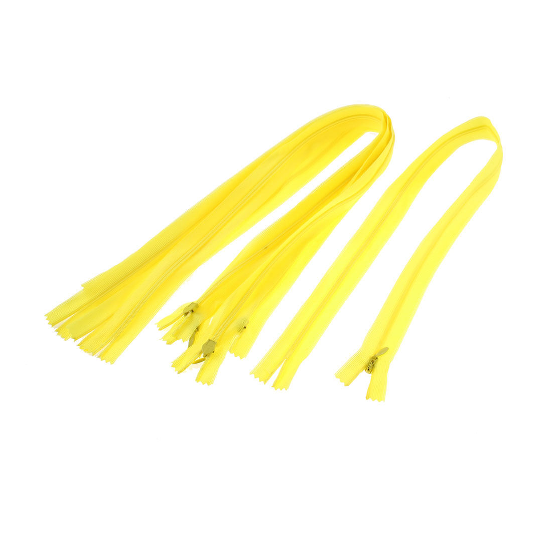 5 Pcs Yellow Nylon Dress Zippers Tailor Sewing Tools 24-inch