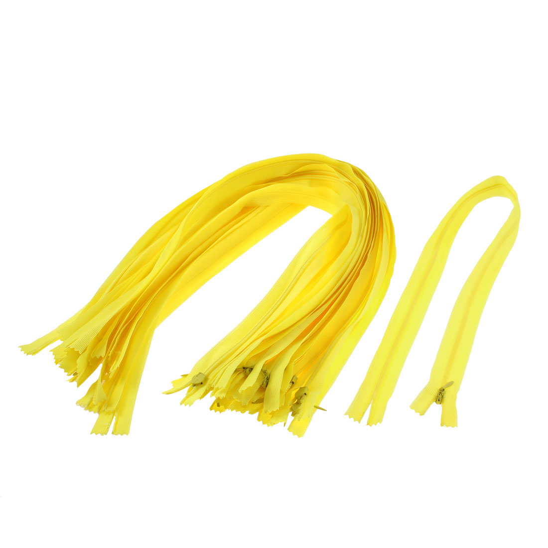 "Yellow Nylon Zippers Tailor Sewing Tools 24"" Long 20 Pcs"
