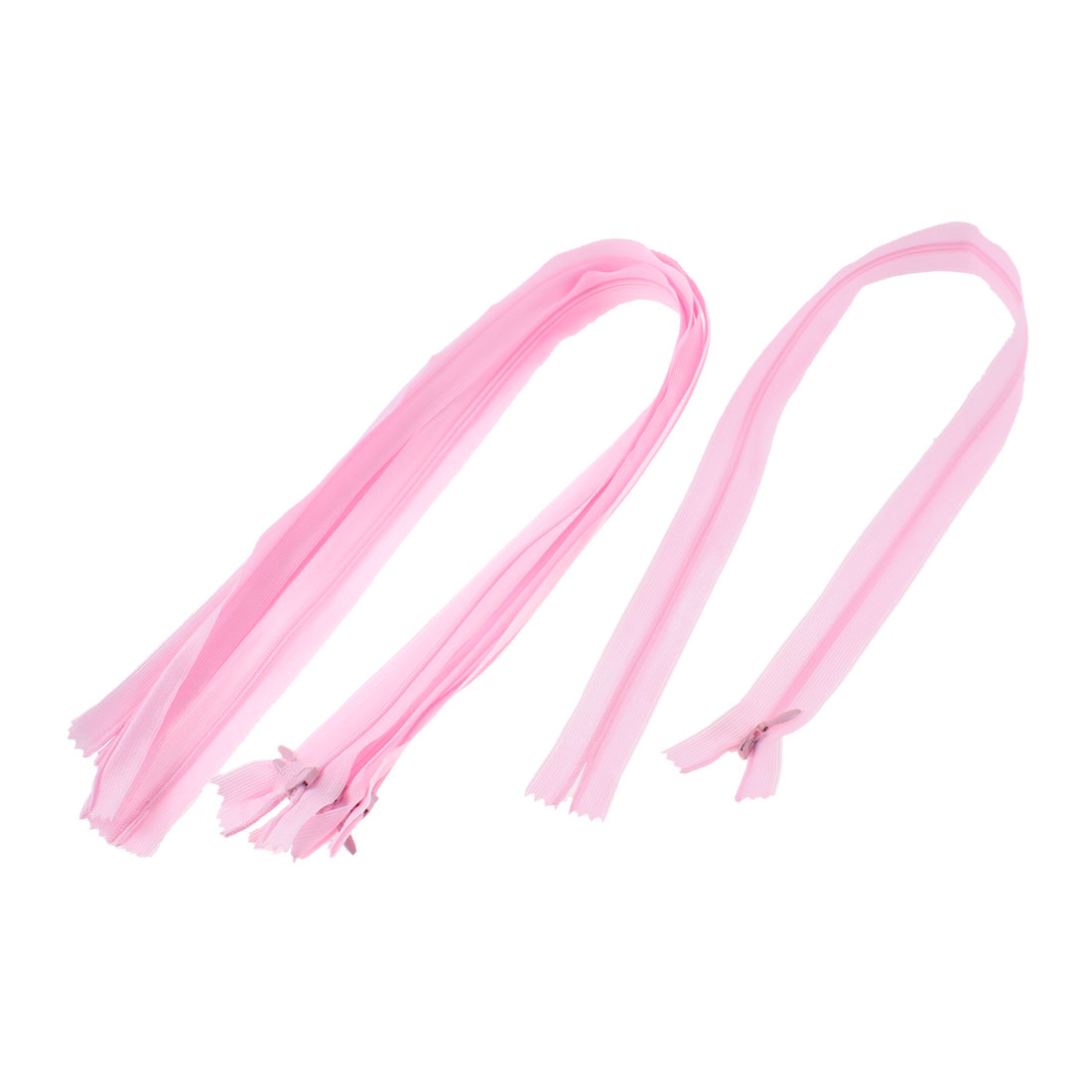 5 Pcs Pink Nylon Dress Zippers Tailor Sewing Tools 24-inch