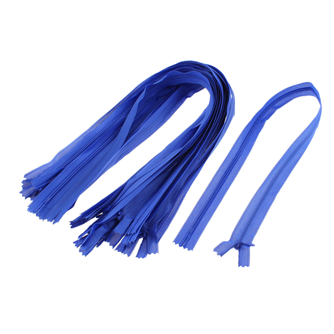 "Blue Nylon Zippers Tailor Sewing Tools 24"" Long 20 Pcs"