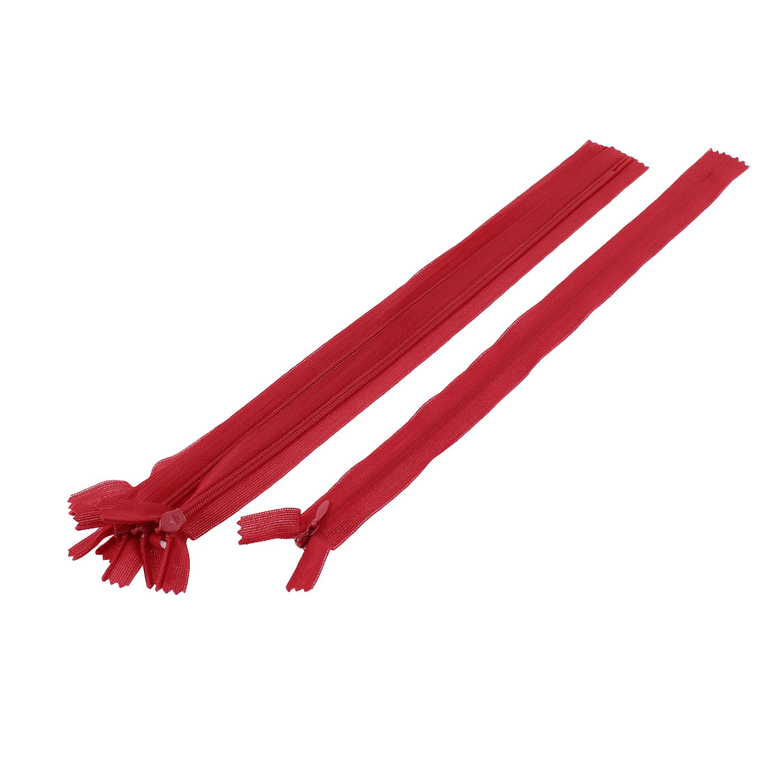 5 Pcs Red 12-inch Nylon Zippers Zips for Doll Clothes