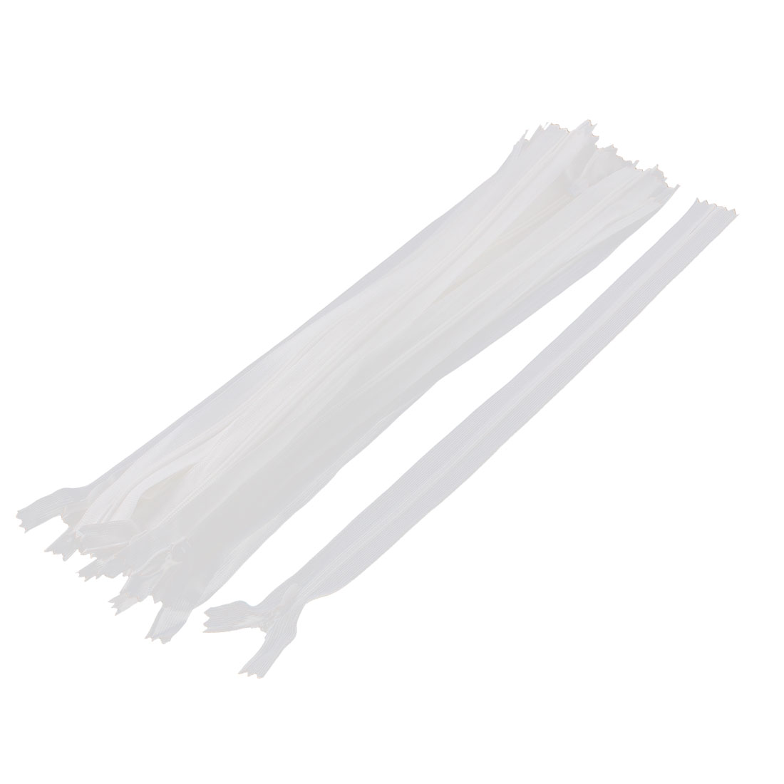 20 Pcs White 30cm 12-inch Nylon Zippers for Doll Clothes
