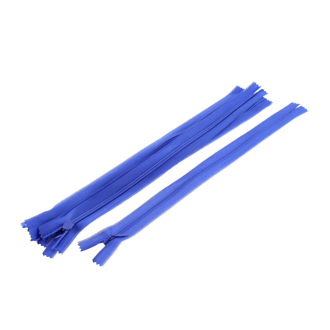 5 Pcs Blue 12-inch Nylon Zippers Zips for Doll Clothes