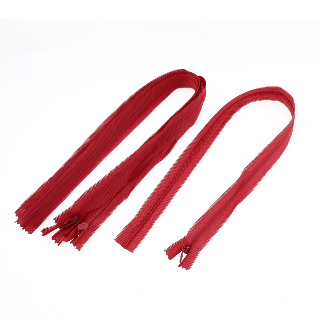 Dress Pants Closed End Nylon Zippers Tailor Sewing Craft Tool Red 55cm 5 Pcs