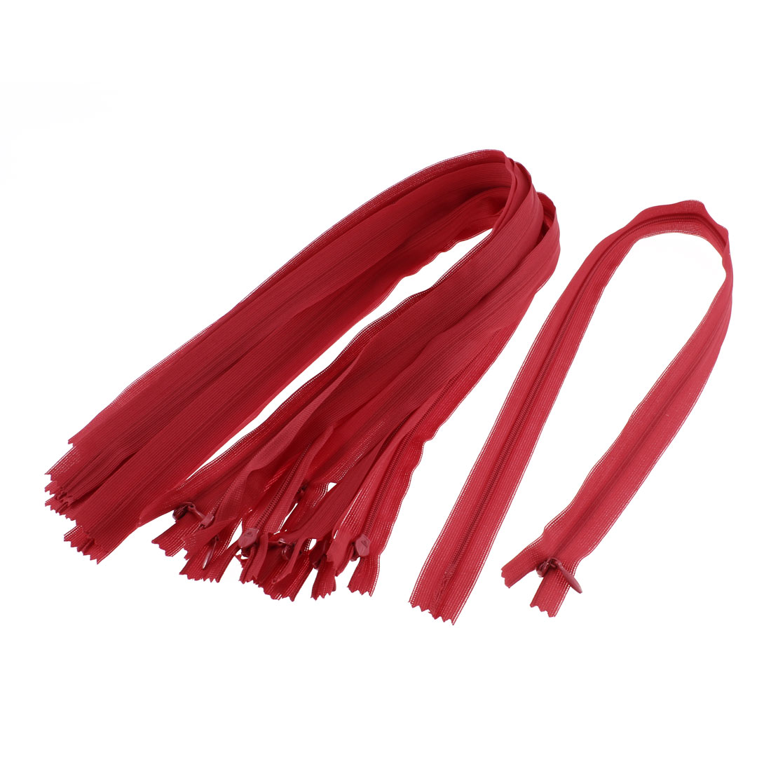 Dress Pants Closed End Nylon Zippers Tailor Sewing Craft Tool Red 55cm 10 Pcs