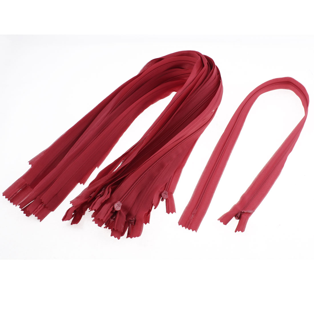 Dress Pants Closed End Nylon Zippers Tailor Sewing Craft Tool Red 55cm 20 Pcs