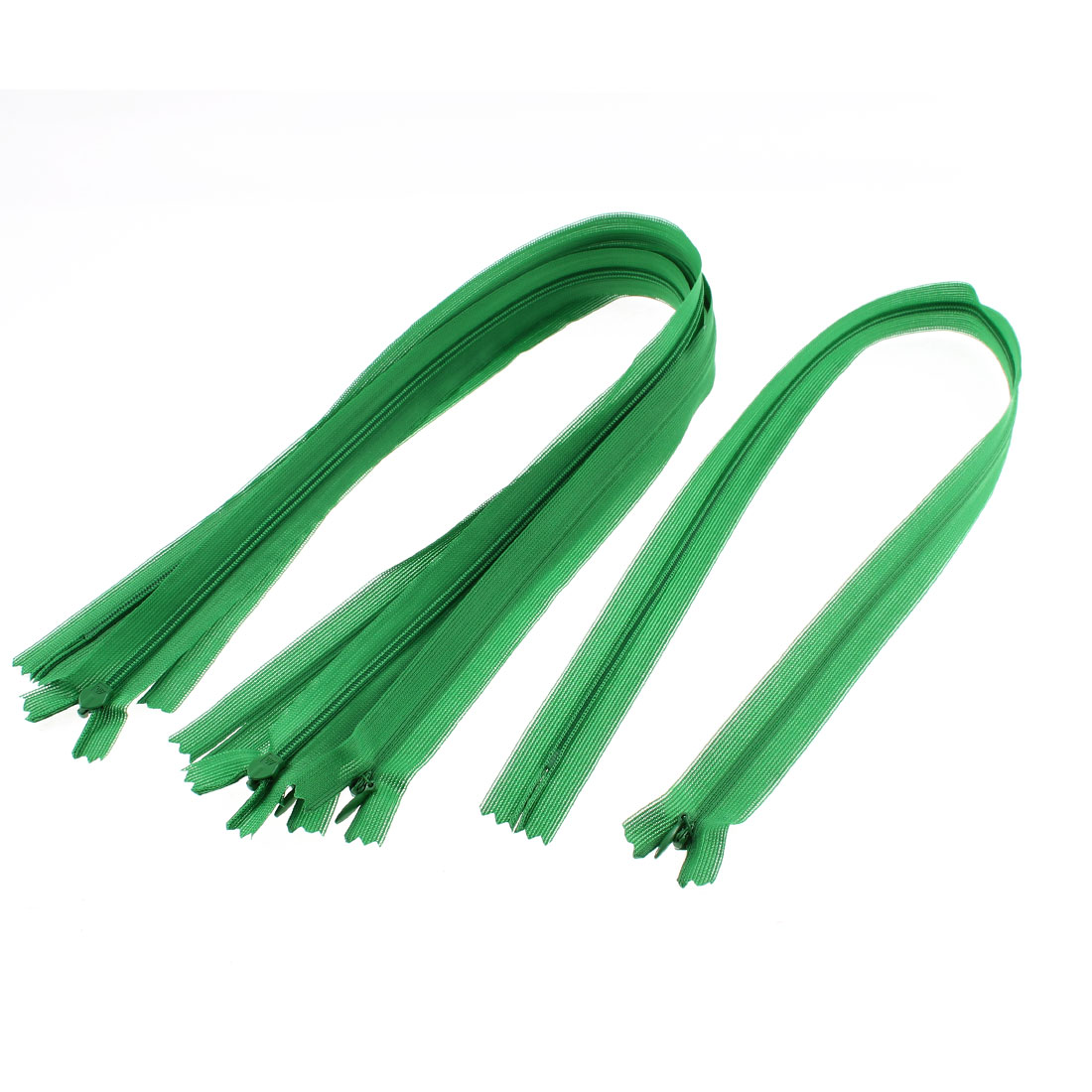 Dress Pants Closed End Nylon Zippers Tailor Sewing Craft Tool Green 55cm 5 Pcs
