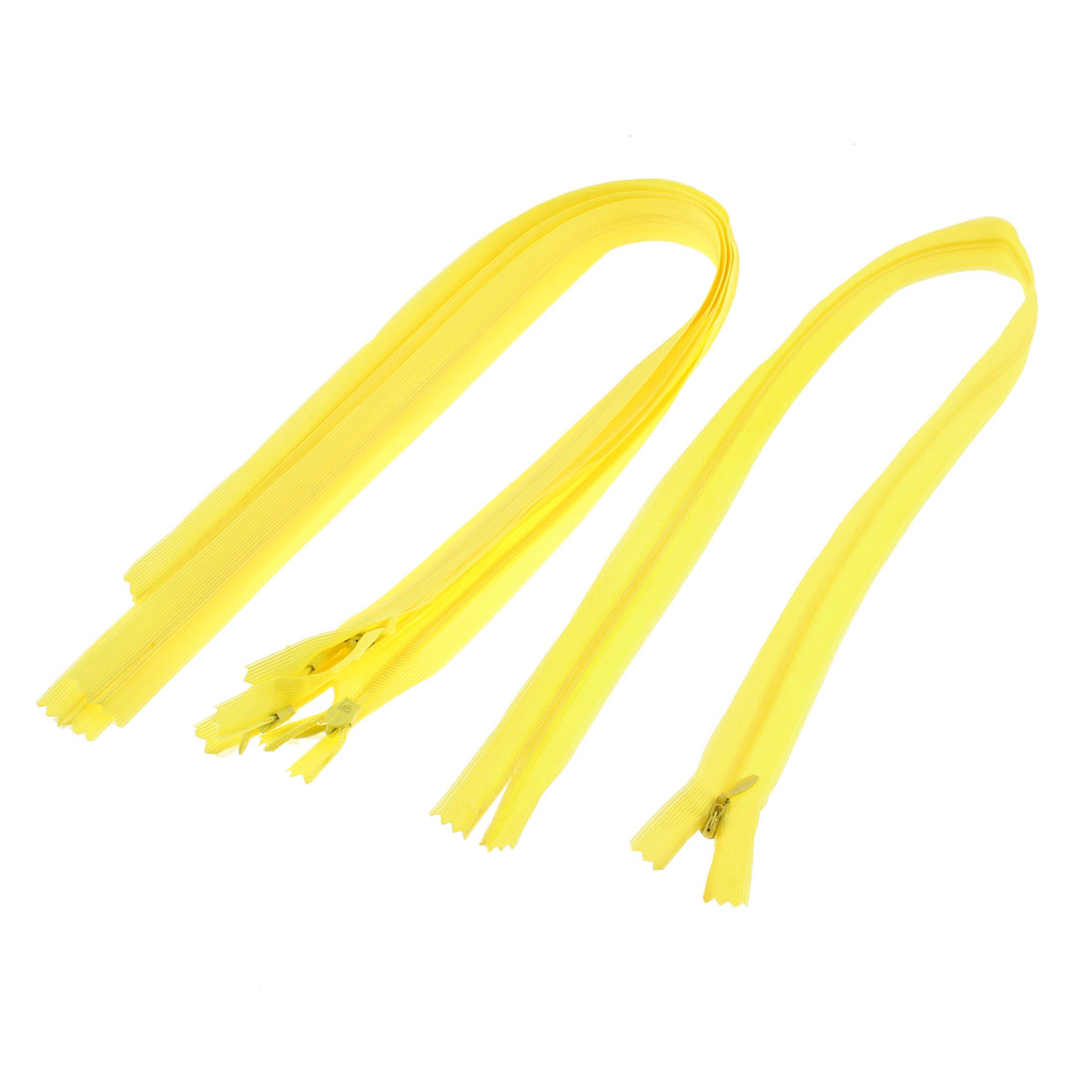 Dress Pants Closed End Nylon Zippers Tailor Sewing Craft Tool Yellow 55cm 5 Pcs
