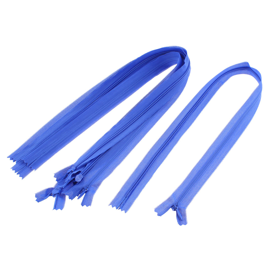 Dress Pants Closed End Nylon Zippers Tailor Sewing Craft Tool Blue 55cm 5 Pcs
