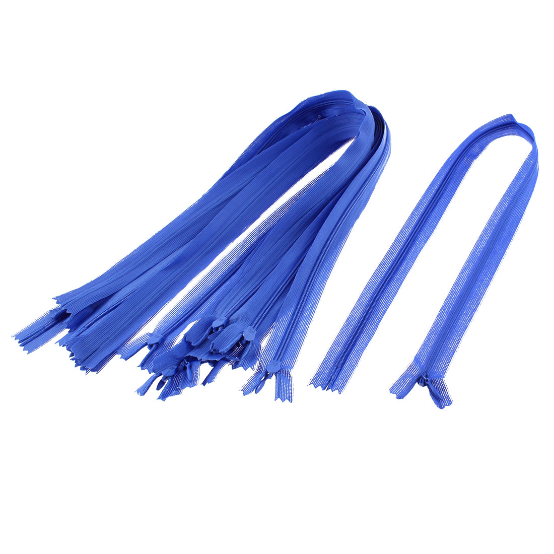 Dress Pants Closed End Nylon Zippers Tailor Sewing Craft Tool Blue 55cm 10 Pcs