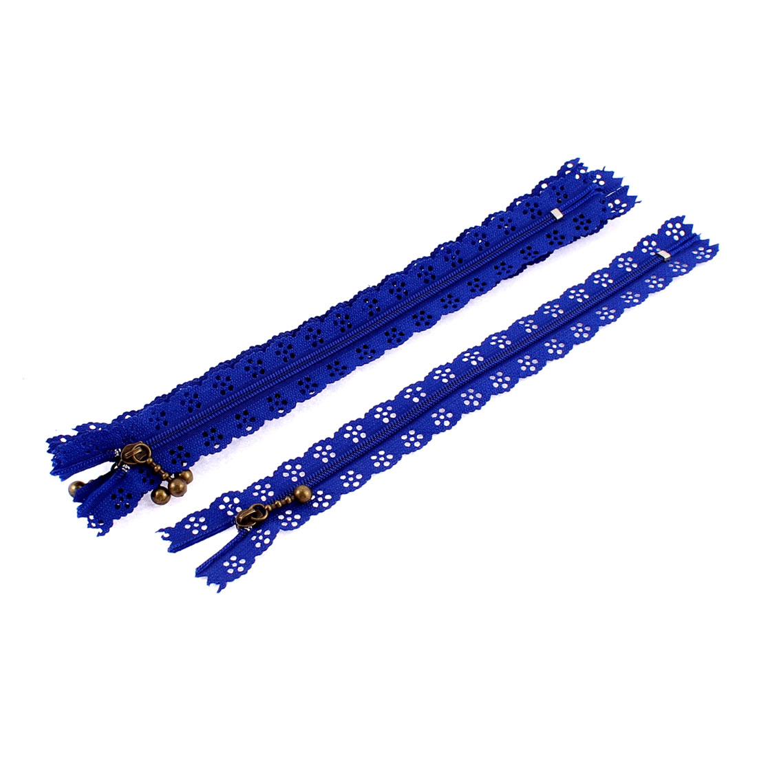 Nylon Coil Zippers Lace Edge Tailor Bag Clothing DIY Craft Dark Blue 20cm 5 Pcs