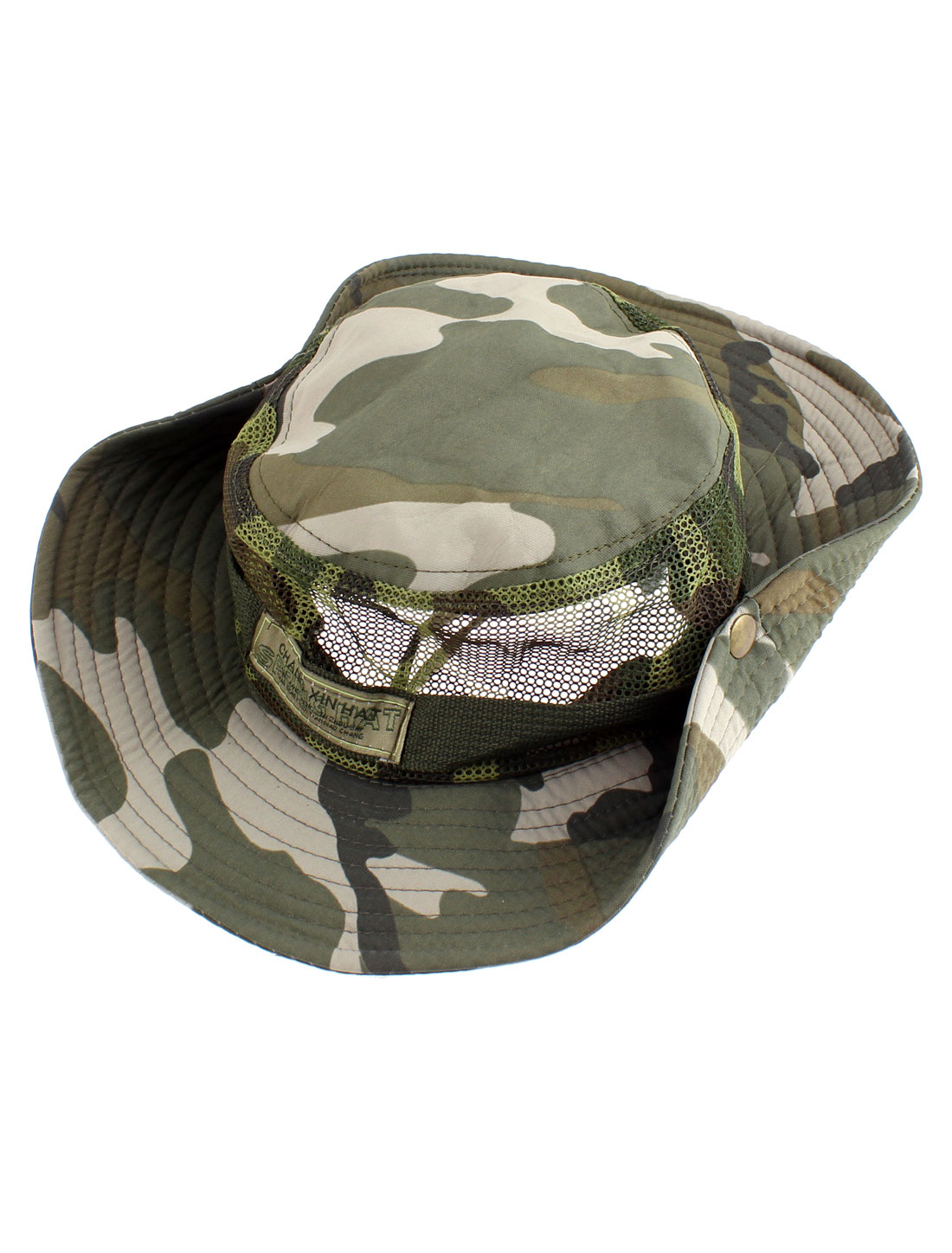 Outdoor Camping Hunting Fishing Camouflage Pattern Wide Brim Bucket Hat