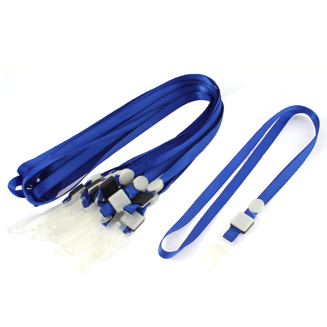 Name ID Card Badge Holder String Lanyard Neck Strap Dark Blue 10Pcs