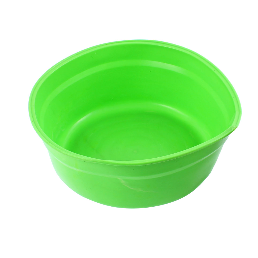Rubber Fishing Food Bait Pot Fodder Basin Green 23 x 9cm
