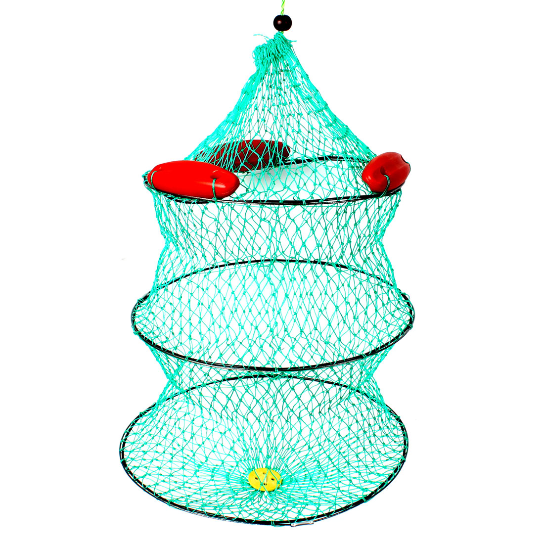 Lobster Crab Crawfish Shrimp Cage Fishing Keep Net Green Red