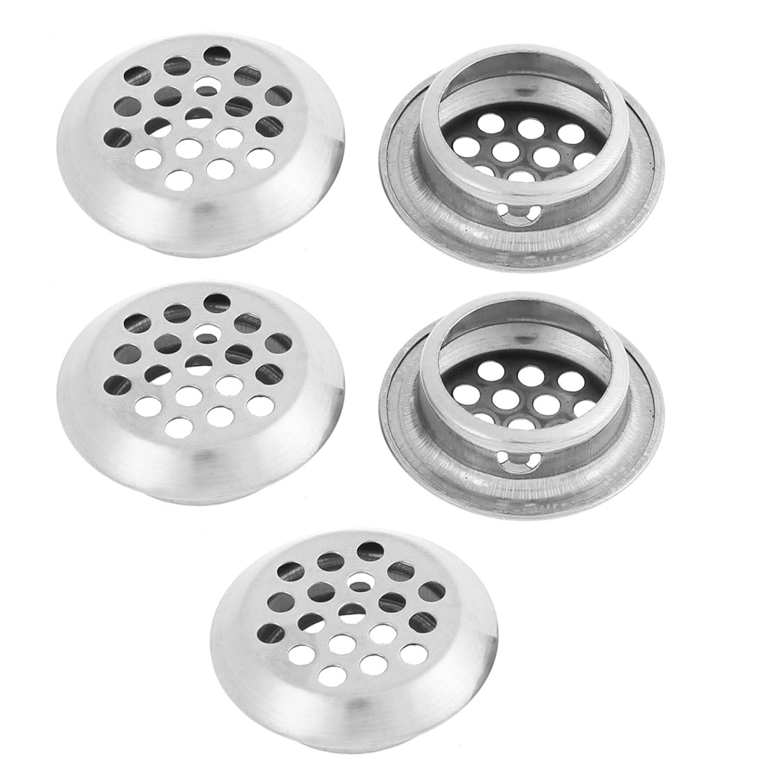 Round Shaped Mesh Hole Air Vent Louver 25mm Bottom Dia 5Pcs