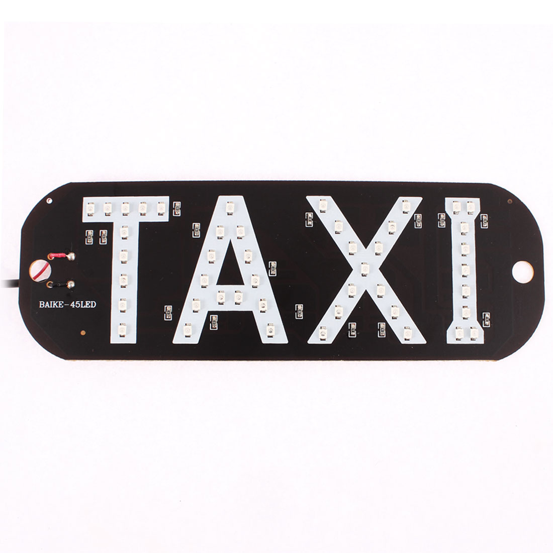 Auto Car Windscreen Cab Sign Red 45 LED Taxi Board w 2 Suction Cup Holder