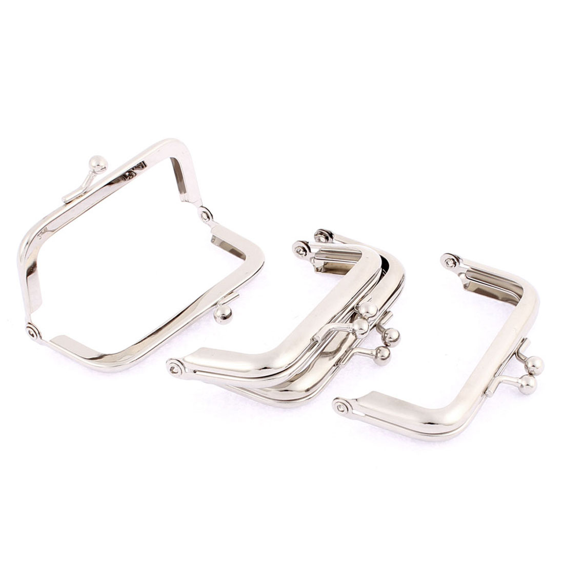 "Purse Handbag Arch Shape Kisslock Clasp Frame 3"" Length 4Pcs"